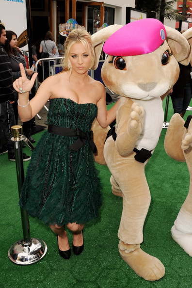 "Actress Kaley Cuoco arrives at the premiere of Universal Pictures and Illumination Entertainment's ""HOP"" at CityWalk on March 27, 2011 in Universal City, California. (March 26, 2011 - Photo by Kevin Winter/Getty Images North America)"
